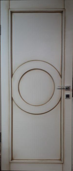 Межкомнатная дверь в профиле массив (эмаль с патиной) Минусинск