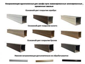 Направляющие однопосные для шкафа купе ламинированные, шпонированные, крашенные эмалью Минусинск